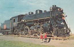 Postcard Steam Locomotive 5270 At Moncton Canada Last Steam Loco My Ref  B13262 - Trains