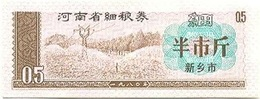 China (CUPONES) 0.50 Jin = 250 Grs. Henan 1980 Ref 409-1 UNC - China