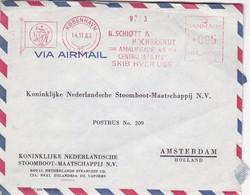 KONINKLIJKE NEDERLANDSCH COMMERCIAL ENVELOPPE CIRCULEE YEAR AN 1963 DANMARK TO HOLLAND MACHINE D'AFFRANCHISEMENT - BLEUP - Poste Aérienne