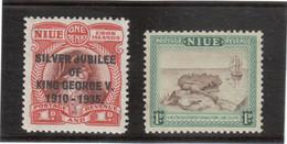 "B5 - NIUE 56** MNH De 1935 James COOK - 81** MNH De 1950 H.M.S.""RESOLUTION"" - Niue"