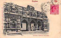 CPA - Hindoo Temple - Colombo - Sri Lanka (Ceylon)