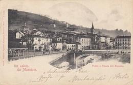 MONDOVì-CUNEO-PONTE E PIAZZA DEL MERCATO-CARTOLINA VIAGGIATA  IL 6-5-1905 - Cuneo