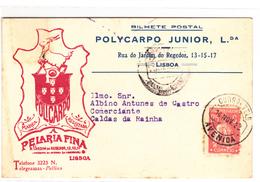 Portugal -Santarem - Circulou De Lisboa Para Caldas Da Rainha Em 14 -11- 1923 - Santarem