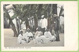 Novo Redondo - Quintadeiras Fazendo Negócio  - Ethnique - Ethnic - Cão - Chien - Dog - Angola - Portugal - Angola