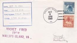 ROCKET FIRED FROM WALLOPS ISLANDS YEAR 1960 SPECIAL COVER - BLEUP - Estados Unidos