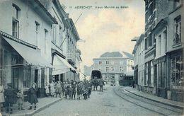 Belgium Aerschot Vieux Marché Au Bétail Stoomtram Topkaart - Aarschot