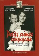 "Livret De La Pièce ""Petits Crimes Conjuguaux"" De Eric-Emmanuel SCMITT Avec Charlotte Rampling Et Bernard Giraudeau  2003 - Programmes"