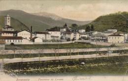 BORGOSESIA-VERCELLI-PANORAMA DA LEVANTE-CARTOLINA VIAGGIATA IL 24-10-1905 - Vercelli
