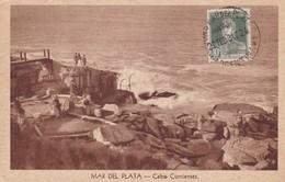 MAR DEL PLATA. CABO CORRIENTES. ED PEDRO TONINI. VINTAGE VIEW PLAGE BEACH CIRCULEE 1934 - BLEUP - Argentinië