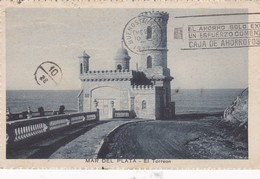 MAR DEL PLATA. EL TORREON. DPR. CPA CIRCULEE 1927 BANDELETA PARLANTE - BLEUP - Argentinië