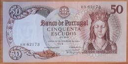 PORTUGAL - NOTA / BANKNOTE 50$00 (cinquenta Escudos) Ch. 8 - 28 De Fev. De 1964 - Série RR - Mt BEM CONSERVADA / V. GOOD - Portugal