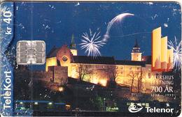 NORWAY - AKERSHUS Festning 1299-1999(155), CN : C9A035312, Tirage 19988, 10/99, Used - Norway