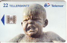 NORWAY - Vigeland Museum/Angry Small Boy(094), CN : C75007700, Tirage 19988, 04/97, Used - Norway