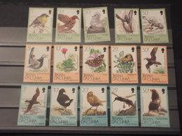 TRISTAN DA CUNHA - 1986/9 FAUNA/FLORA 5+5+5 VALORI - NUOVI(++) - Tristan Da Cunha