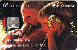 NORWAY - Tin Can Phones(043), CN : C4C147967, Tirage 9500, 01/95, Used - Norway