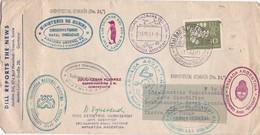 ENVELOPE CIRCULEE BAD NEUSTADTISAAL GERMANY A TIERRA DEL FUEGO OBLITERATION ANTARTIDA ANTARTICA ARGENTINE 1963  - BLEUP - Polarmarken