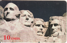 USA - Mount Rushmore, Sprint Prepaid Card 10 Units, Used - Vereinigte Staaten