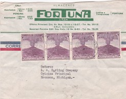 FORTUNA - COMMERCIAL ENVELOPPE TIMBRE UNIES COLOMBIA YEAR 1955 - BLEUP - Kolumbien