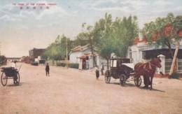 Yingkou China, Front Of Train Station, Street Scene, C1920s Vintage Postcard - China