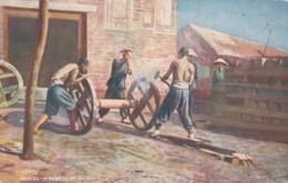 China, 'Chinese Life' Tuck Series #9683 Wheelwrights At Work North China, C1900s Vintage Postcard - China