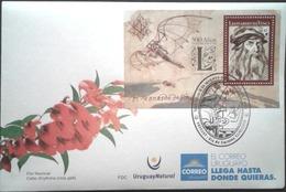 Uruguay 2019 SPD  500 Años Muerte Leonando Da Vinci. Polímata Florentino Del Renacimiento. - Celebrità