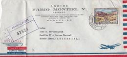 DR FABIO MONTIEL V ABOGADO - COMMERCIAL ENVELOPE CIRCULEE YEAR 1968 VENEZUELA TO ARGENTINE - BLEUP - Venezuela