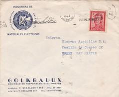 GOLKRALUX MATERIALES ELECTRICOS - COMMERCIAL ENVELOPE CIRCULEE YEAR 1963 ARGENTINE BANDELETA PARLANTE - BLEUP - Argentinien