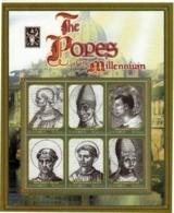 Zambia 2000 The Popes Of The Millennium (ss/6v). MNH II - Zambia (1965-...)