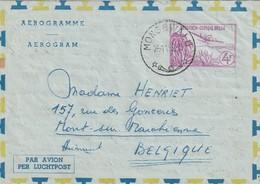 Congo Belge - Aérogramme De Mongbwalu Vers Mont-sur-Marchienne 1959 - Postwaardestukken