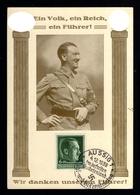 18055-GERMAN EMPIRE-PROPAGANDA POSTCARD ADOLF HITLER.1938.WWII.Hoffmann.AUSSIG.DEUTSCHES REICH.POSTKARTE.Carte Postale - Covers & Documents