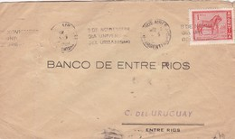 BANCO DE ENTRE RIOS - COMMERCIAL ENVELOPE CIRCULEE YEAR 1945 BANDELETA PARLANTE - BLEUP - Argentine