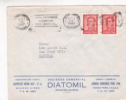DIATOMIL INDUSTRIA QUIMICA - COMMERCIAL ENVELOPE CIRCULEE YEAR 1967 BANDELETA PARLANTE - BLEUP - Argentine