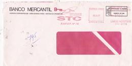 BANCO MERCANTIL - COMMERCIAL ENVELOPE CIRCULEE YEAR 1997 MACHINE D'AFFRANCHISEMENT - BLEUP - Lettres & Documents
