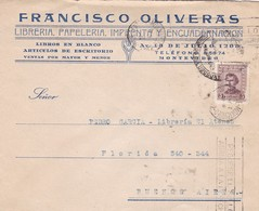 FRANCISCO OLIVERAS- COMMERCIAL ENVELOPE CIRCULEE 1942 BANDELETA PARLANTE URUGUAY - BLEUP - Uruguay