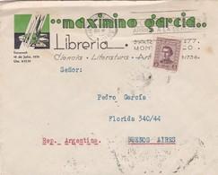 MAXIMINO GARCIA LIBRERIA - COMMERCIAL ENVELOPE CIRCULEE 1942 BANDELETA PARLANTE URUGUAY - BLEUP - Uruguay