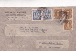 ROBERTO ZANDER - COMMERCIAL ENVELOPE CIRCULEE YEAR 1948 MONTEVIDE A USA TIMBRES UNIES URUGUAY - BLEUP - Uruguay