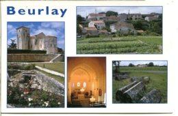 17250 BEURLAY - Multivues De Bonne Qualité - église, Fontaine, Tombes Médiévales - France