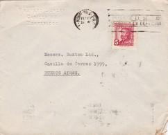 ERNESTO SURGEY - COMMERCIAL ENVELOPE CIRCULEE YEAR 1946 MONTEVIDEO A BUENOS AIRES BANDELETA PARLANTE - BLEUP - Uruguay