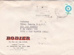 RODIER - COMMERCIAL ENVELOPE CIRCULEE YEAR 1983 BANDELETAS PARLANTES LAS MALVINAS ARGENTINAS - BLEUP - Argentine