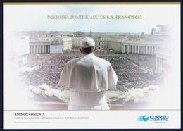 "2013 ARGENTINA ""INIZIO DEL PONTIFICATO DI PAPA FRANCESCO"" FOLDER SERIE ANNULLATA - Ungebraucht"