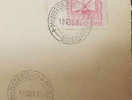 O) 1943 BRAZIL,SINGLE RATE, INTER AMERICAN CONFERENCE OF LAWYERS - SCT C54, H. BURLE MARX. REGISTERED FROM TREASURY, - Brazil