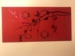 Red Pocket CNY Nouvel An Chinois SWAROVSKI Rouge - Cartes Parfumées