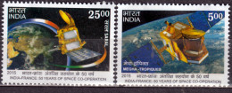 INDE-2015- Emission Commune France Coopération Spatiale India Joint Issue France Spatial Cooperation - Joint Issues