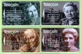 New Zealand - 1993 Women's Suffrage Set (4) - NZ-G-66/9 - Very Fine Used - Neuseeland