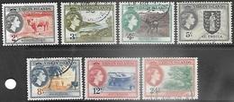 Virgin Islands 1956   Sc#117-23 7 Diff Used   2018 Scott Value $4.15 - British Virgin Islands