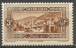 Lebanon - 1925 Deir-el-Kamar 3pi  MNH **    Mi 67  Sc 59 - Great Lebanon (1924-1945)
