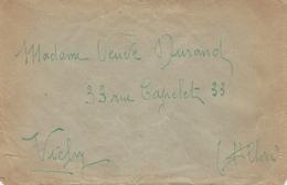 1940- - Deux Enveloppes Clandestines Du Camp De Moulins ( Allier ) Avec 8 Pages De Texte + Avis De Capture Du 11 Juillet - Marcofilia (sobres)