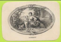 Chromos Lithographie Prenom  AIMERY 110mmx158mm N052 - Süsswaren