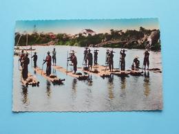NORD VIETNAM - HAIPHONG - Radeaux De Bambous Pour Pêche à . ( 548 - Edit. P. C. Paris ) Anno 195? ( Voir / Zie Photo ) ! - Viêt-Nam