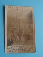 Militaires Français > 4 Photo à Identificier ( Carte Photo > Campagne 1914/15 ) Anno 19?? ( Voir / Zie Photo ) ! - Guerre 1914-18